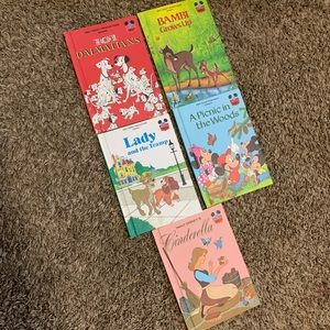 disney wonderful world of reading lot of 5 books